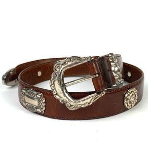 Vintage Fossil Western Leather Belt